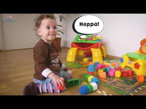 Clemmy puha építőkockák - a 1,5 éves Julcsi