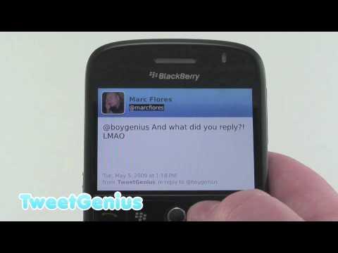 TweetGenius: The First <i>Good</i> BlackBerry Twitter App?