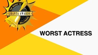 Worst Actress By Manan Desai  The Ghanta Awards 2016