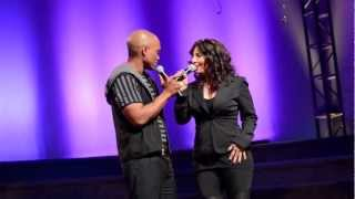 Josie Aiello  Jesse Campbell singing I Ain't Got You @ Agape in Culver City