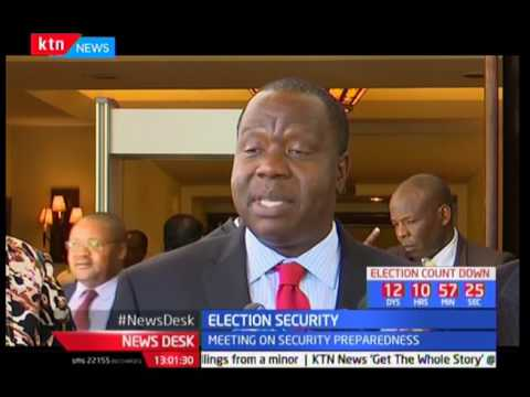 Matiangi meets with diplomats over state of security during the elections