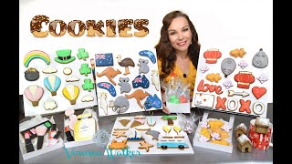 Cookies,  Cookie Cutters And Display