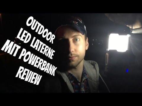 Klappbare LED Laterne inkl. Powerbank für den Outdoor Einsatz im Review Test mit FINALE !!