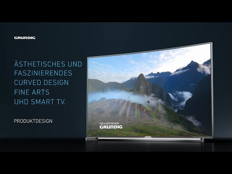 Produktdesign: Grundig Curved UHD-TV