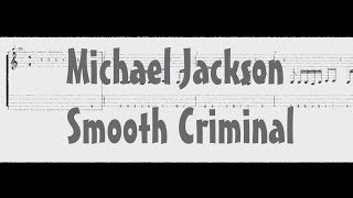 Michael Jackson - Smooth Criminal - マイケルジャクソン [Bass Tab]