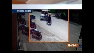 Watch: SUV rams into two bikes in Haryana
