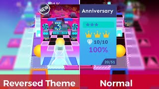 Rolling Sky - Anniversary   Inverted Theme vs Normal