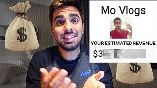 MY MONTHLY YOUTUBE INCOME IS...