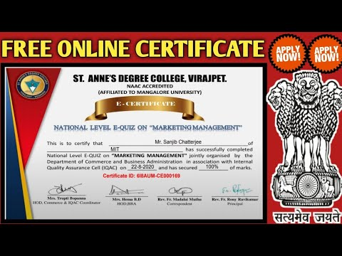 FREE ONLINE CERTIFICATE | Marketing Management Certificate