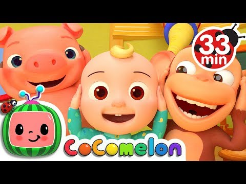 Head Shoulders Knees and Toes | +More Nursery Rhymes & Kids Songs - Cocomelon (ABCkidTV)