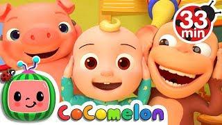 Head Shoulders Knees And Toes | +More Nursery Rhymes & Kids Songs   CoCoMelon