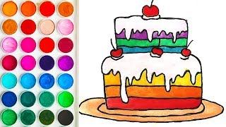 Coloring for Toddlers with Cake, Drawings