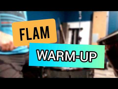 A flam warm-up with an increasing number of taps. For intermediate and advanced players.