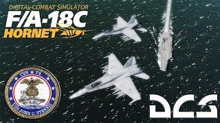 DCS: F/A-18C Hornet Fleet Defense against Iraqi Su-24Ms.
