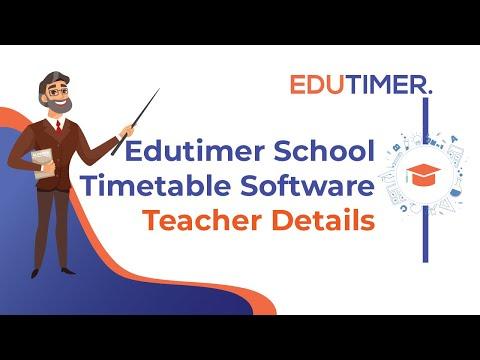 School Timetable Software ( Teacher Details )