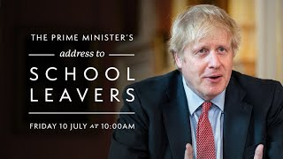 The Prime Minister's address to school leavers