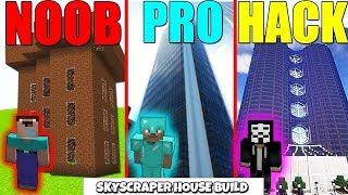 Minecraft Battle : SKYSCRAPER CHALLENGE - NOOB vs PRO vs HACKER Minecraft Animation