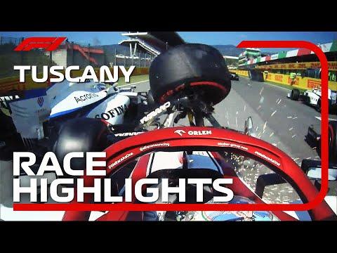 F1 トスカーナGP。クラッシュ多発のGPでルイス・ハミルトンが優勝。7分で見ることができるハイライト動画