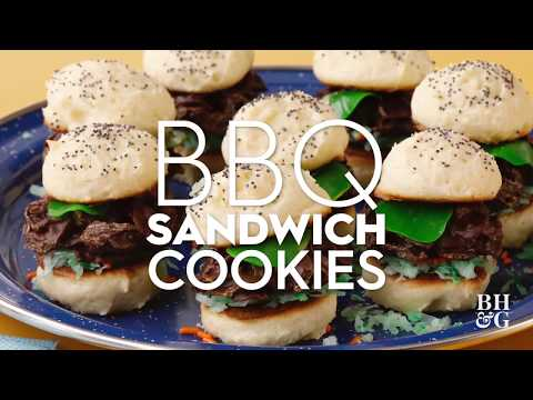 BBQ Sandwich Cookies | Fun with Food | Better Homes & Gardens
