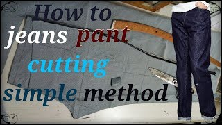 How To Mens Jeans Pant Cutting Esay Method In Hindi //Al Make Fashion //