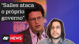 Joel Pinheiro da Fonseca: A gente se pergunta qual a função de Ricardo Salles no governo