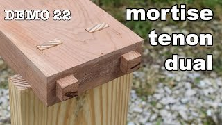 Dual Mortise and Tenon by Hand + Asian vs Western Mortice Making