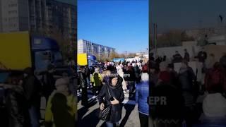 Протесты в Днепре — перекрыта Березинка
