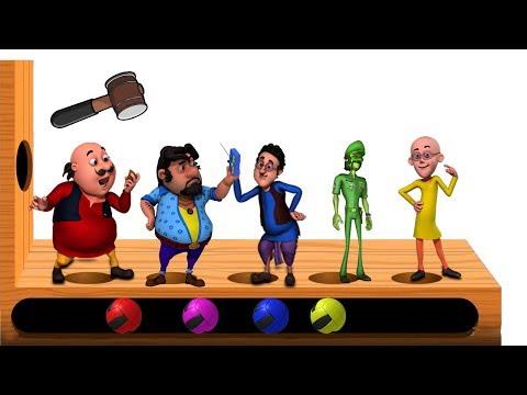 Learn Colors With Keys L Motu Patlu Dr Jhatka John The Don