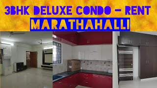 Marathahalli 3BHK Condo Semi-Furnished #ForRent in Bengaluru East