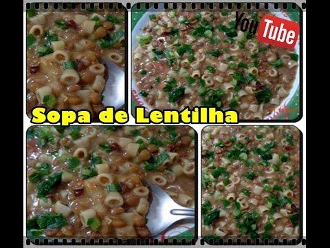 Sopa de lentilha e macarrão