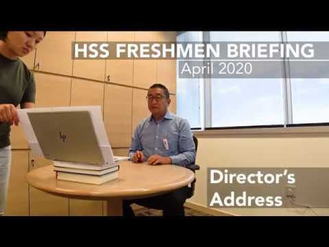 HSS Freshmen Briefing 2020