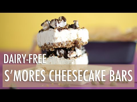 Video Dairy-Free No-Bake S'mores Cheesecake Bars | Healthy Dessert Recipes