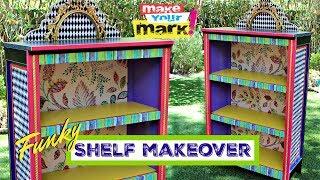 Funky Shelf Makeover