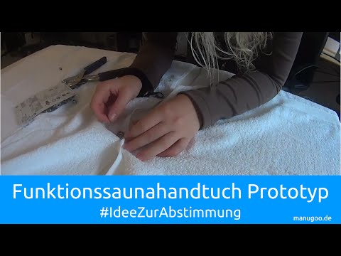 Funktionshandtuch Saunahandtuch Prototyp | manugoo