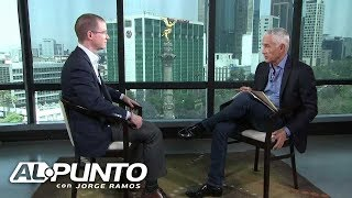 """Peña Nieto """"tiene miedo de que yo sea presidente"""", le dice Ricardo Anaya a Jorge Ramos"""