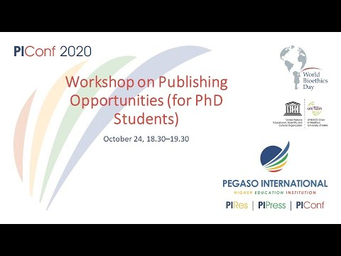 Workshop on Publishing Opportunities