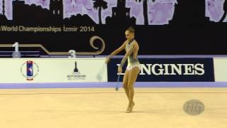 preview picture of video 'BERTOLINI Veronica (ITA) - 2014 Rhythmic Worlds, Izmir (TUR) - Qualifications Clubs'