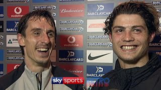 ► Subscribe to Sky Sports Retro: http://bit.ly/SkySportsRetroSub  Gary Neville encouraged Cristiano Ronaldo to do his first English speaking interview and he even gave him a few phrases he could use as well.   #SkySportsRetro #SkySports #ManchesterUnited  More from Sky Sports on YouTube:  ► Sky Sports: http://bit.ly/SkySportsSub ► Sky Sports Football: http://bit.ly/SSFootballSub ► Sky Sports Boxing: http://bit.ly/SSBoxingSub ► Sky Sports F1: http://bit.ly/SubscribeSkyF1 ► Sky Sports Cricket: http://bit.ly/SubscribeSkyCricket ► Soccer AM: http://bit.ly/SoccerAMSub ► Football Daily: http://bit.ly/fdsubscribe