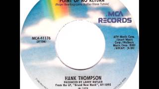 Hank Thompson - Point Of No Return