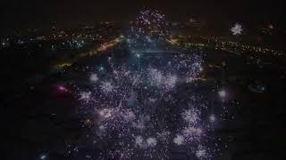 Квадрокоптер, салюты,Новый год 2018, hubsan h501s x4, полеты