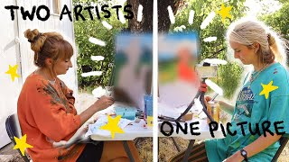 Two Artists Paint The Same Picture Ft. MY SISTER