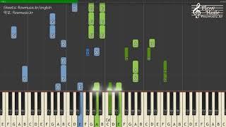 BTS Jungkook (방탄소년단 정국)   Euphoria (유포리아) Piano Tutorial 피아노 튜토리얼