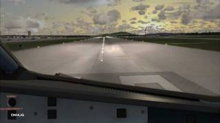 preview picture of video 'FSX : Zürich Airport Runway 28 Departure'