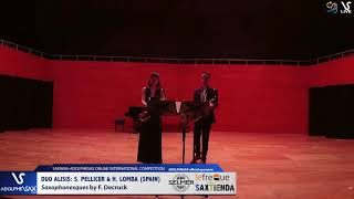 Duo Alisis S. PELLICER & H. LOMBA plays Saxophonesques by F. Decruck #adolphesax