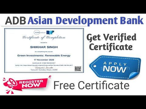 Free Certificate Course   Renewable Energy Course   Online Course ...