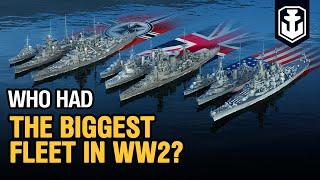World War 2 Navy Comparison — Fleets Evolution 1939–1946