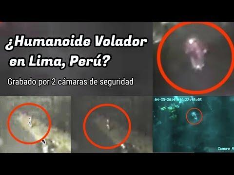 ¿Humanoide volador en Lima, Perú? Grabado por 2 cámaras de seguridad