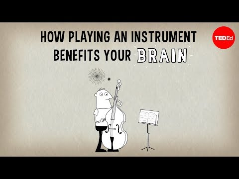 See how learning to play an instrument benefits the brain!!