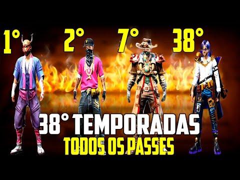 TODOS OS PASSES DE ELITE DO FREE FIRE (S1-S38)