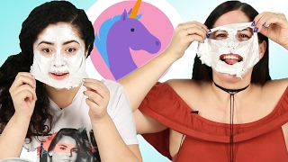 "People Try A ""Unicorn"" Face Mask"